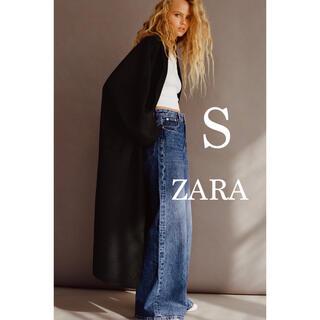 ZARA - ZARA 今期新品未使用タグ付き ザラ オーバーサイズロングコート S ブラック