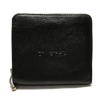 アニエスベー(agnes b.)のアニエスベー 2つ折り財布美品  - 黒(財布)