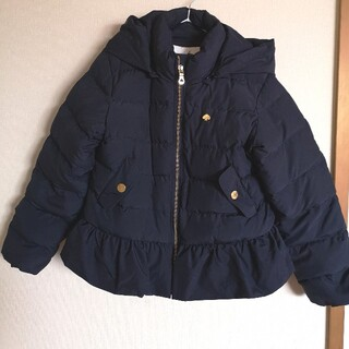ケイトスペードニューヨーク(kate spade new york)のダウンコート 140 紺(kumamon333様専用)(コート)