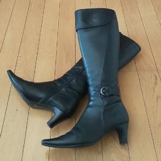 ピッティ(Pitti)のお値下げ Pitti  ロングブーツ  24cmEE  黒(ブーツ)