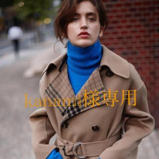 ルシェルブルー(LE CIEL BLEU)の新品同様 ルシェルブルー  リバーシブルラップコート オーバーサイズコート(ロングコート)