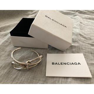 Balenciaga - 希少極美品 BALENCIAGAバレンシアガ リボンシルバーバングル