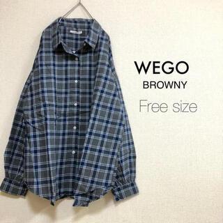 ウィゴー(WEGO)のWEGO BROWNY⭐️新品⭐️ビッグシャツ チェック グレー(シャツ/ブラウス(長袖/七分))