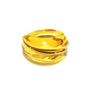 バカラ(Baccarat)のバカラ リング美品  - イエロー×ゴールド(リング(指輪))