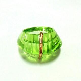 バカラ(Baccarat)のバカラ リング美品  - ライトグリーン(リング(指輪))
