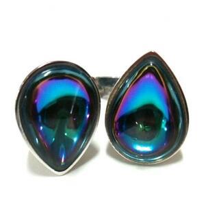 バカラ(Baccarat)のバカラ リング美品  - ブルー×パープル(リング(指輪))
