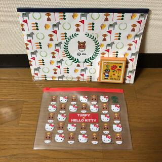 ハローキティ(ハローキティ)のJRAターフィーノベルティグッズ2点セット/KITTY 日本中央競馬会 非売品 (ノベルティグッズ)