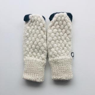 アッシュペーフランス(H.P.FRANCE)のoeuf ウフ 手袋 ミトン ひつじ 18m (手袋)
