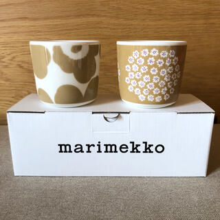 marimekko - 新品* マリメッコ ラテマグ ウニッコ  プケッティ ベージュ 2個セット