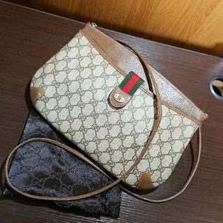 Gucci - 正規品 美品 オールドグッチ ヴィンテージ GG シェリー ショルダーバッグ