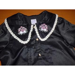 アクシーズファム(axes femme)の美品140アクシーズファムkidsフォーマルブラウス卒園式入学式法事冠婚葬祭喪服(ブラウス)