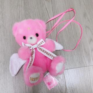 アンジェリックプリティー(Angelic Pretty)のMilky Bear 濃ピンク ポシェット 新品未使用(ショルダーバッグ)