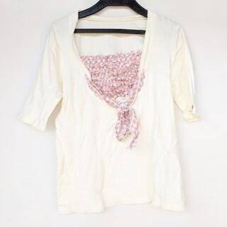 ピンクハウス(PINK HOUSE)のピンクハウス 半袖カットソー サイズL美品 (カットソー(半袖/袖なし))