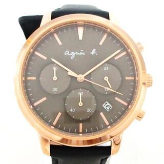 アニエスベー(agnes b.)のアニエスベー 腕時計美品  - VD53-KWB0(腕時計)