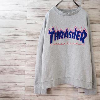 スラッシャー(THRASHER)のTHRASHER サガラ刺繍 フレイムロゴスウェット(スウェット)