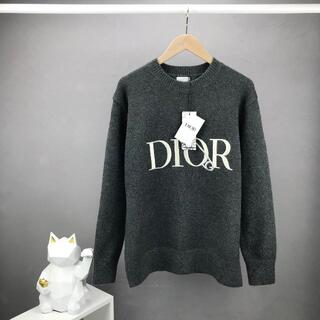 Christian Dior - Christian Diorウール 丸襟セーターニット トップス 長袖刺繍127