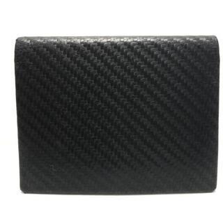 ダンヒル(Dunhill)のダンヒル カードケース美品  - 黒 レザー(名刺入れ/定期入れ)