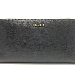 フルラ(Furla)のフルラ 長財布美品  バビロン 黒 レザー(財布)