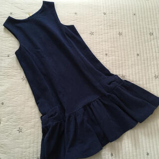 ケイトスペードニューヨーク(kate spade new york)の美品 160 ケイトスペード  ラメ入り 紺色 ワンピース フォーマル(ワンピース)