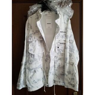 ネイバーフッド(NEIGHBORHOOD)の新品、未使用品 ネイバーフッド M-65ジャケット ホワイト迷彩 Lサイズ(ミリタリージャケット)
