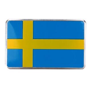 Volvo - スウェーデン フラッグ アルミステッカー 国旗 ボルボ サーブ 北欧