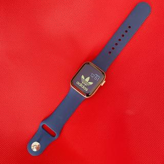 アップルウォッチ(Apple Watch)の新品 apple  watch 38/40mm シリコンバンド S ネイビー(ラバーベルト)