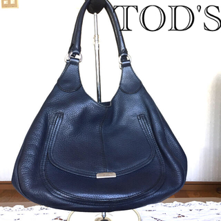 TOD'S - TOD'S トッズ ネイビーシボレザーバッグ