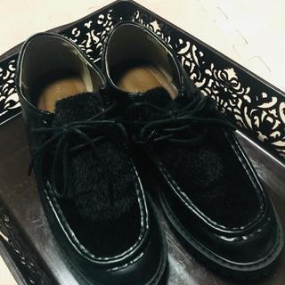 レプシィム(LEPSIM)のLEPSIM 未使用 黒 靴 23センチM 本日中SALE(スリッポン/モカシン)