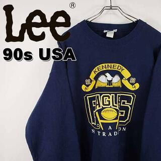リー(Lee)の【90s 古着】Lee USA製 ケネディイーグルス アメフト ロゴ スウェット(スウェット)