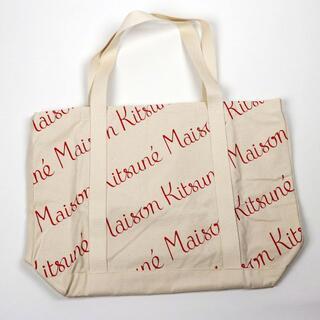 メゾンキツネ(MAISON KITSUNE')の新品 メゾンキツネ コットントートバッグ キャンバス ロゴ エコバッグ ブランド(トートバッグ)