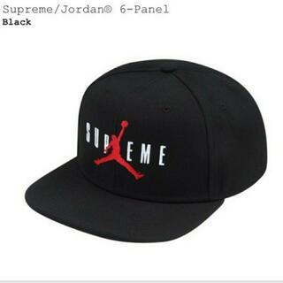 Supreme - SUPREME シュプリームAIR JORDAN 6-PANEL CAP 黒