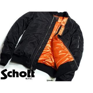 ショット(schott)のschott ma-1 ドラゴン刺繍(フライトジャケット)