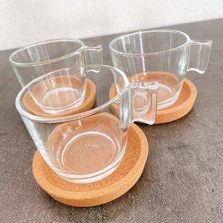 イケア(IKEA)のIKEA カップ ガラス コースター(グラス/カップ)