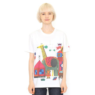 Design Tshirts Store graniph -  グラニフ コラボレーションTシャツ/きんぎょがにげた おもちゃ(五味太郎)