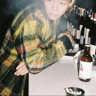 Supreme - Supreme Brushed Plaid Sweater Mohair 黒