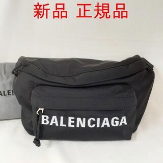 バレンシアガ(Balenciaga)の【新品】バレンシアガ ウィール ベルトパック ブラック/ホワイト(ウエストポーチ)