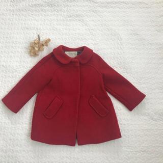 ザラキッズ(ZARA KIDS)のzara   babygirl コート 赤(ジャケット/コート)