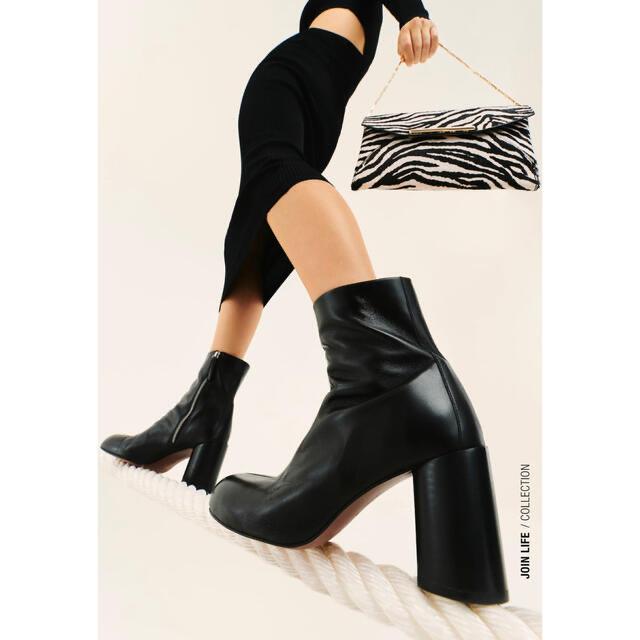 ZARA(ザラ)の新品  ZARA リアル レザー  ハイヒール アンクル ブーツ レディースの靴/シューズ(ブーツ)の商品写真