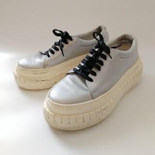 アクネ(ACNE)のアクネ ステュディオス プラットフォームスニーカー/厚底 シルバー 革靴 ブーツ(スニーカー)
