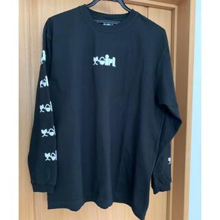 エックスガール(X-girl)の【美品 エックスガール X-girl ロゴ入り長袖Tシャツ ブラック サイズ2】(Tシャツ(長袖/七分))