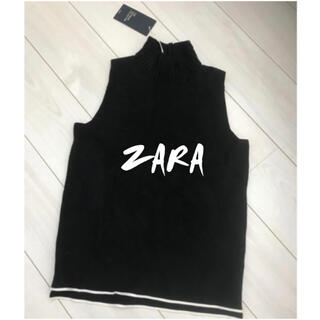 ZARA - 激安!早い者勝ち!!ZARA ザラ ノースリーブニット タートルニット
