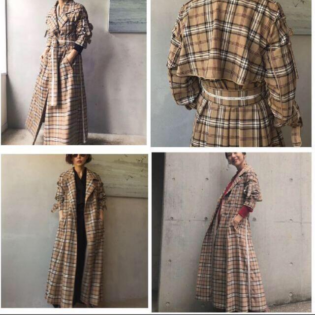 Ameri VINTAGE(アメリヴィンテージ)のAMERI PASS CODE CHECKコート レディースのジャケット/アウター(トレンチコート)の商品写真