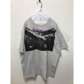カラー(kolor)のkolor 19aw Tシャツ グレー(Tシャツ/カットソー(半袖/袖なし))