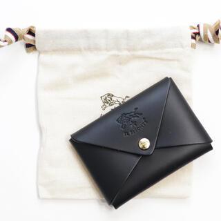 イルビゾンテ(IL BISONTE)の新品 イルビゾンテ カードケース オリガミ 名刺入れ コインケース ブラック 黒(名刺入れ/定期入れ)