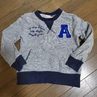 ラグマート(RAG MART)のラグマート トレーナー 100 グレー ロゴ 刺繍 チェック(Tシャツ/カットソー)