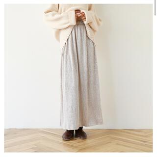 シールームリン(SeaRoomlynn)のDIAMONDギャザースカート シャンパンM(ロングスカート)