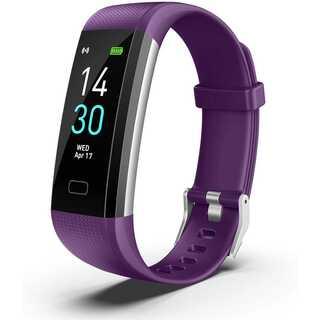 スマートウォッチ血圧モニター付き (パープル)(腕時計(デジタル))