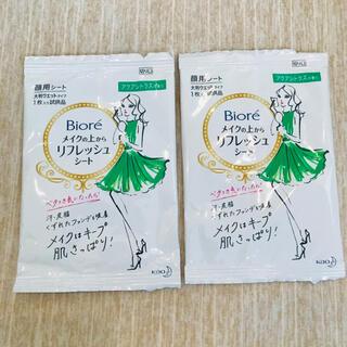 Biore - 【新品】ビオレ メイクの上からリフレッシュシート2 アクアシトラスの香り✨×2