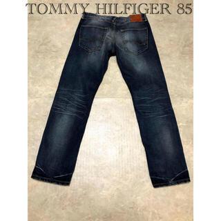 トミーヒルフィガー(TOMMY HILFIGER)のトミーヒルフィガー メンズW34 昭和レトロ 牛革ブランドラベル(デニム/ジーンズ)