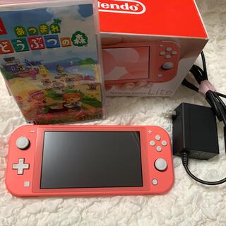 Nintendo Switch - Nintendo Switch Lite コーラルピンク あつまれどうぶつの森